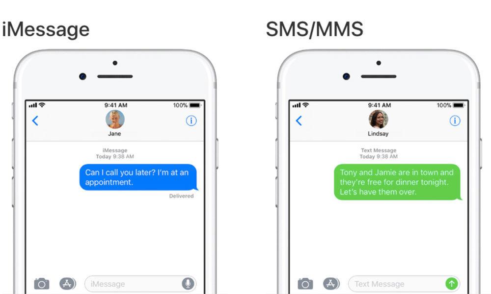 imessage text message 1000x600 Samsung tourne en ridicule les bulles bleues dans les conversations iMessage