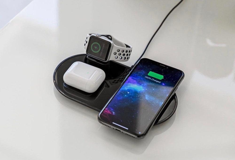 mophie 3 in 1 wireless charging pad 1000x683 Apple met en vente un équivalent du AirPower qui recharge jusquà 3 appareils à la fois