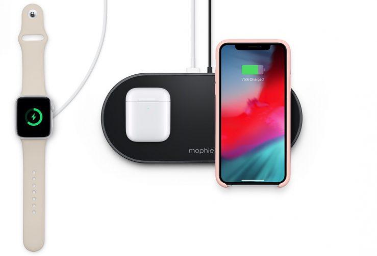mophie 3 in 1 wireless charging pad equivalent airpower Apple met en vente un équivalent du AirPower qui recharge jusquà 3 appareils à la fois