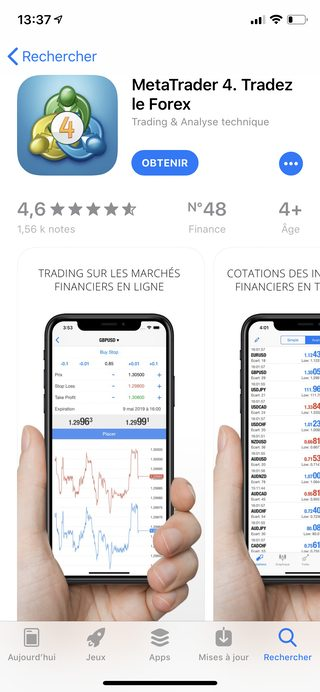 mt4 iphone app store La meilleure application trading pour iPhone   MetaTrader 4