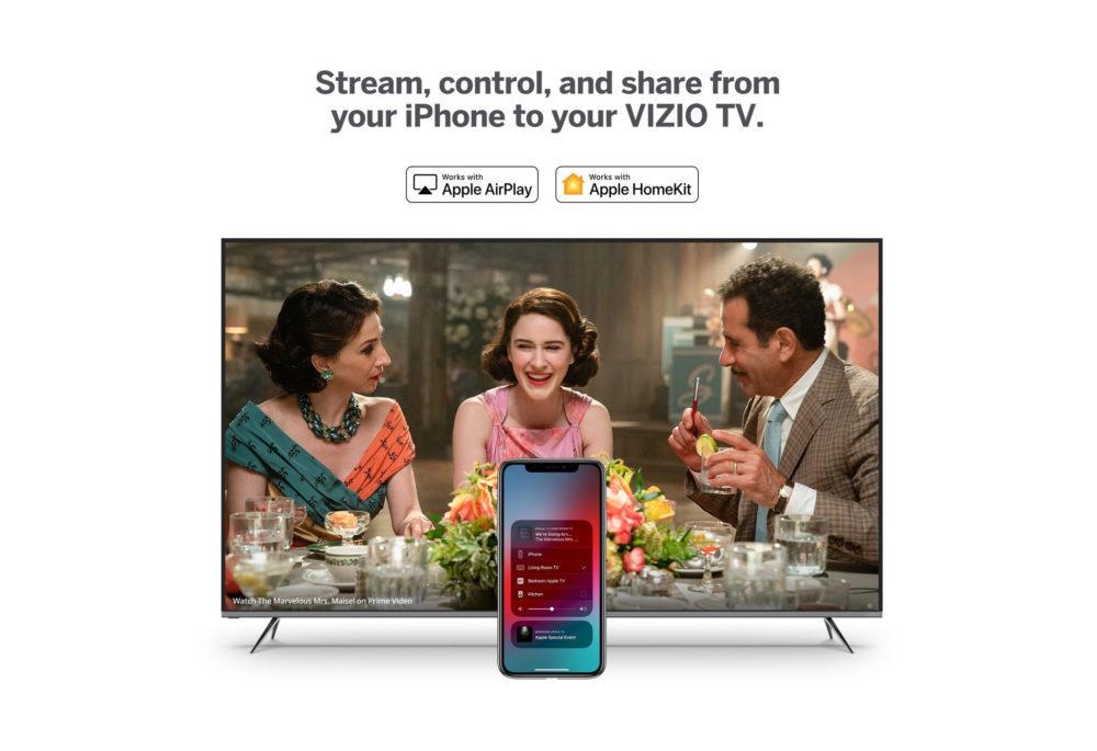 vizio airplay 2 1000x685 Après LG, Vizio ajoute le support dAirPlay 2 et de HomeKit dApple sur ses TV connectées