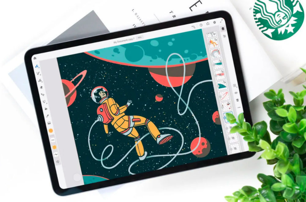Adobe Fresco App 1000x661 Lapplication de dessin dAdobe, Adobe Fresco, est désormais disponible sur iPad