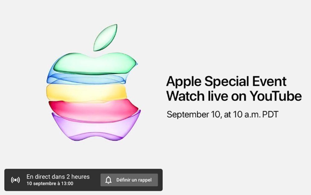Keynote Apple iPhone 11 1000x626 iPhone 11 : Apple diffusera pour la première fois la keynote en direct sur YouTube