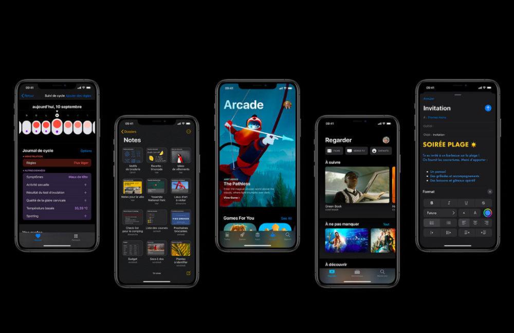 iOS 13 Mode Sombre Et Plus 1000x648 iOS 13 version finale est disponible au téléchargement sur iPhone et iPod touch