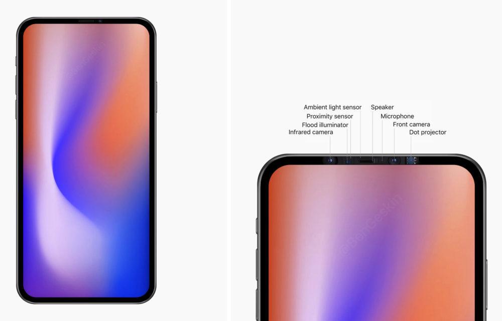 iPhone 2020 Ecran Sans Encoche 1000x640 iPhone de 2020 : un modèle avec un écran de 6,7 pouces sans encoche ?