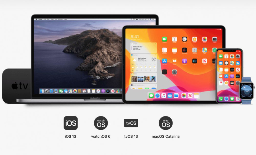 ios 13 ipados 13 macos catalina watchos 6 1000x607 Les dates de publication diOS 13, diPadOS 13, de macOS Catalina et de watchOS 6 sont connues