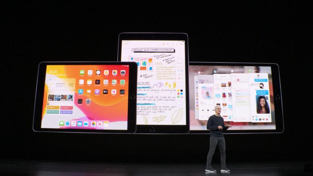 nouvel ipad ipados Keynote septembre 2019 : iPad 7ème génération, nouvel écran 10,2 pouces