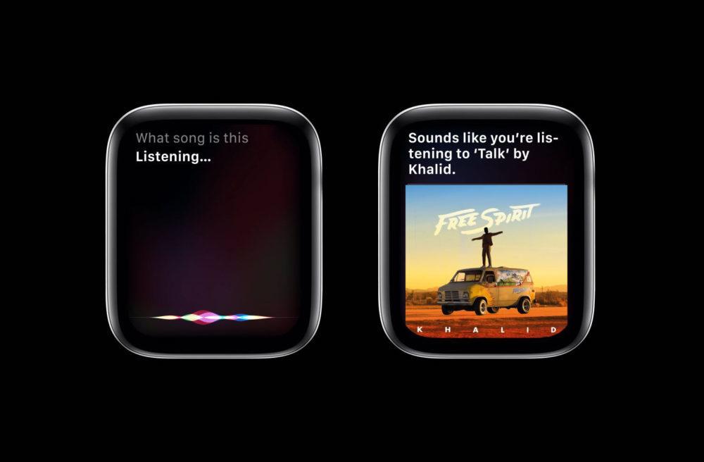 watchOS 6 Siri Shazam 1000x656 La version finale de watchOS 6 est disponible au téléchargement sur lApple Watch