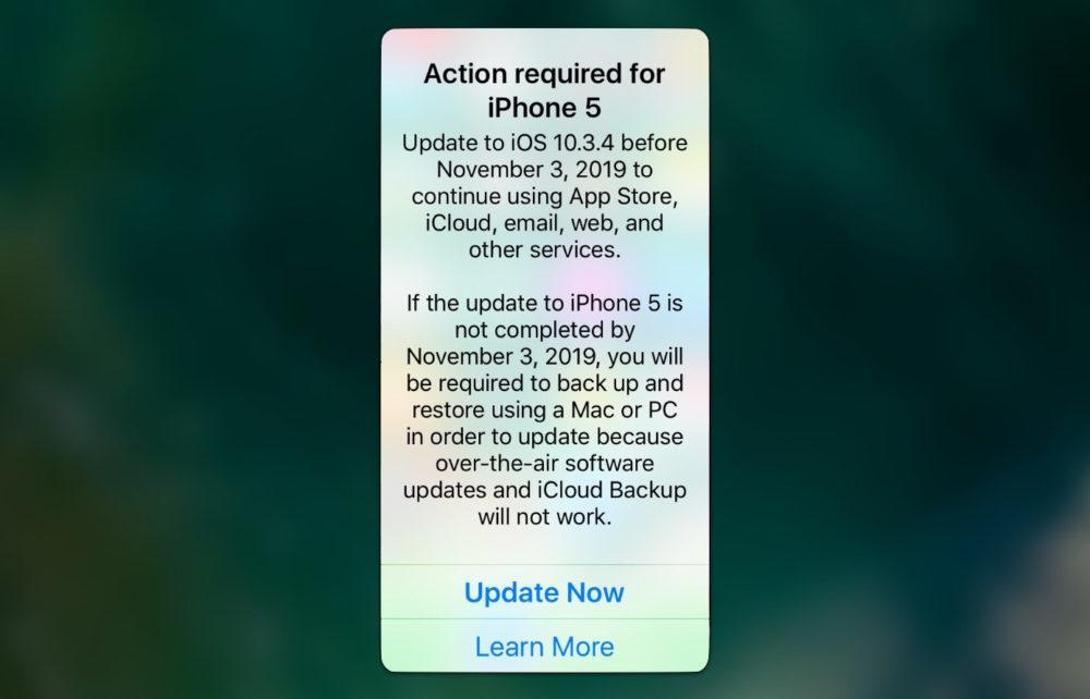 Mettez a Jour iPhone 5 Inutilisable 1000x642 Si vous utilisez un iPhone 5, installez iOS 10.3.4 afin quil puisse continuer de fonctionner