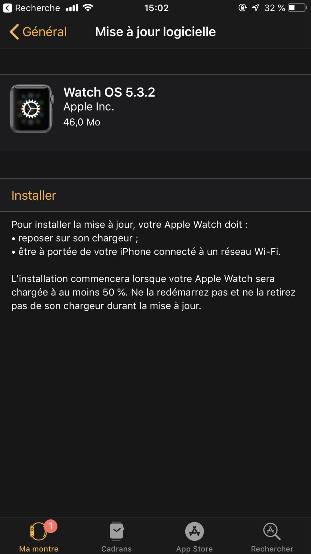 Apple rend disponible watchOS 5.3.2 sur lApple Watch Series 4