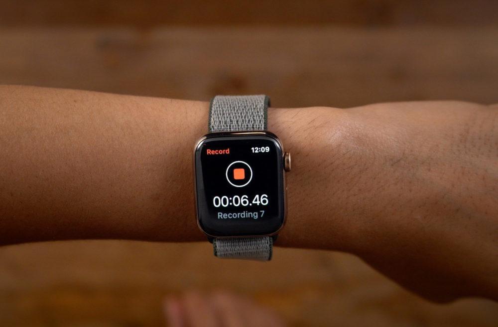 watchOS 6 Dictaphone 1000x656 watchOS 6.1 est disponible : support des AirPods Pro et des Apple Watch Series 1 et 2