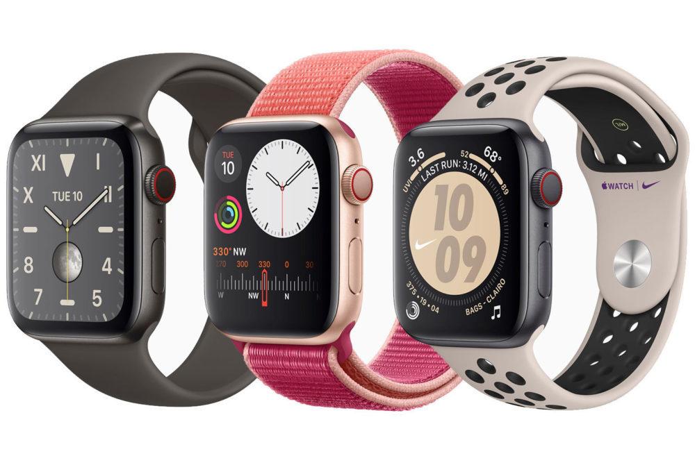 3 apple watch 5 1000x657 Apple Watch Series 6 : elle sera plus rapide avec une meilleure résistance à leau et autres