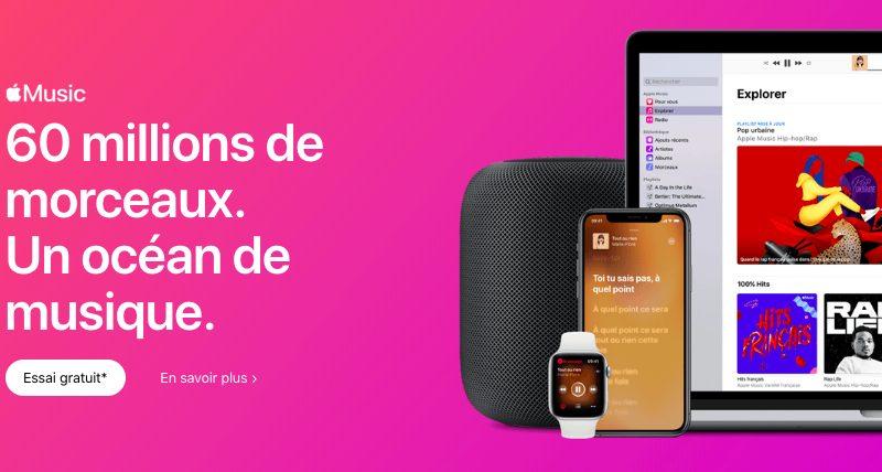Apple Music 60 Millions Musiques Apple Music dispose de 60 millions de chansons à lheure actuelle