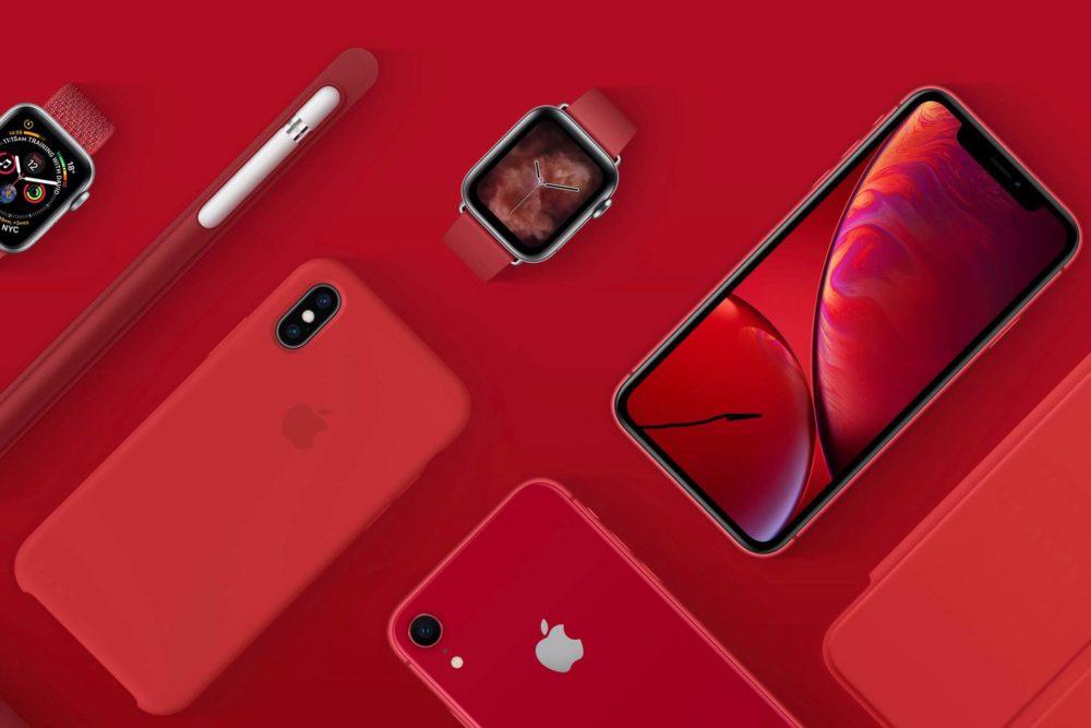 Apple Product Red Apple Watch iPhone XR iPhone XS Max Case Apple Pencil 1 dollar sera versé à (RED) par Apple pour chaque achat effectué dans ses boutiques avec Apple Pay