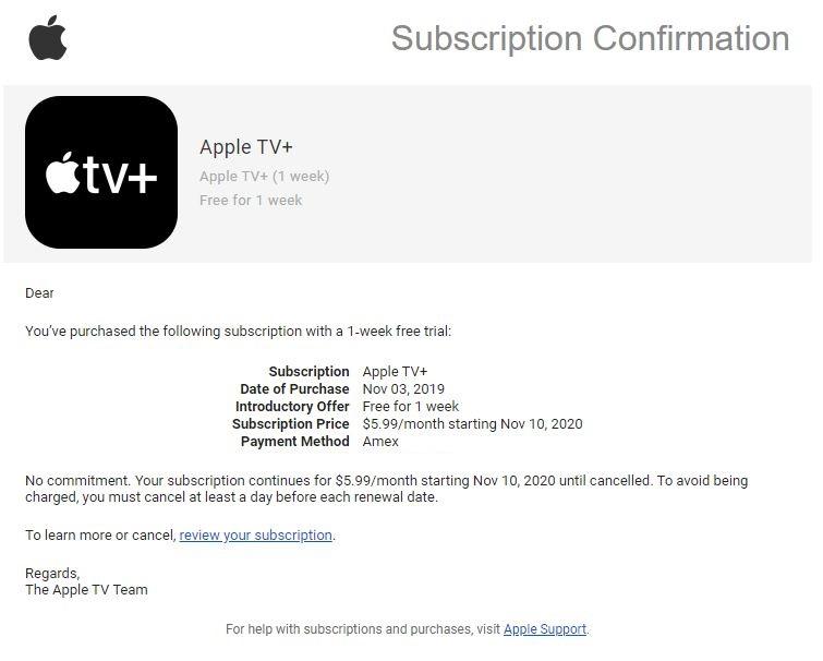 Apple TV+ : si vous ne pouvez pas recevoir votre souscription d1 an gratuit, un code vous sera envoyé