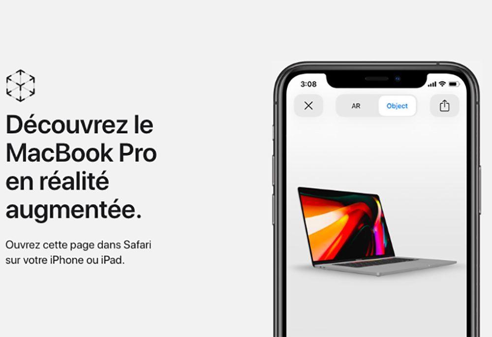 MacBook Pro 16 Pouces Realite Augmentee 1000x685 Il est possible de voir le MacBook Pro 16 pouces dApple grâce à la réalité augmentée
