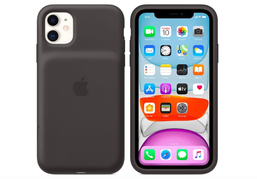 Smart Battery Case iPhone 11 La Smart Battery Case dApple est disponible pour iPhone 11, 11 Pro et 11 Pro Max