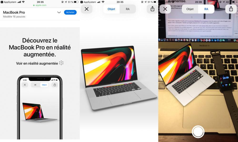 Voir MacBook Pro 16 Pouces Realite Augmentee 1000x595 Il est possible de voir le MacBook Pro 16 pouces dApple grâce à la réalité augmentée