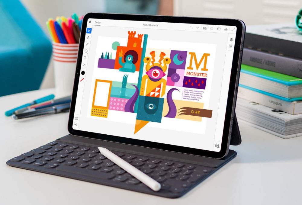 adobe illustrator pour ipad 1000x679 Lapplication Adobe Illustrator arrive sur iPad en 2020