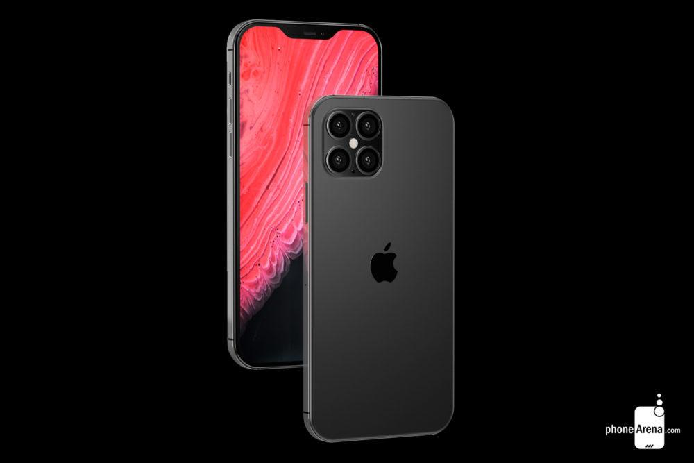 iPhone 12 camera encoche 1000x667 Des rendus présentent liPhone 12 avec une plus petite encoche, 4 caméras et plus