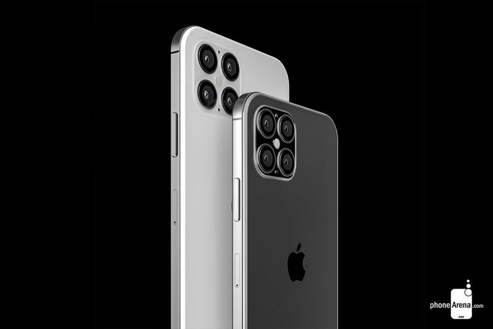 iPhone 12 rendus cameras 1000x667 Des rendus présentent liPhone 12 avec une plus petite encoche, 4 caméras et plus