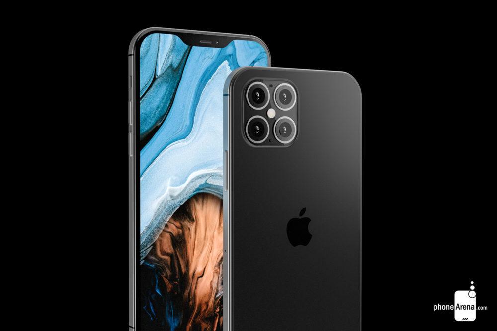 iPhone 12 rendus ecran encoche 1000x667 Des rendus présentent liPhone 12 avec une plus petite encoche, 4 caméras et plus