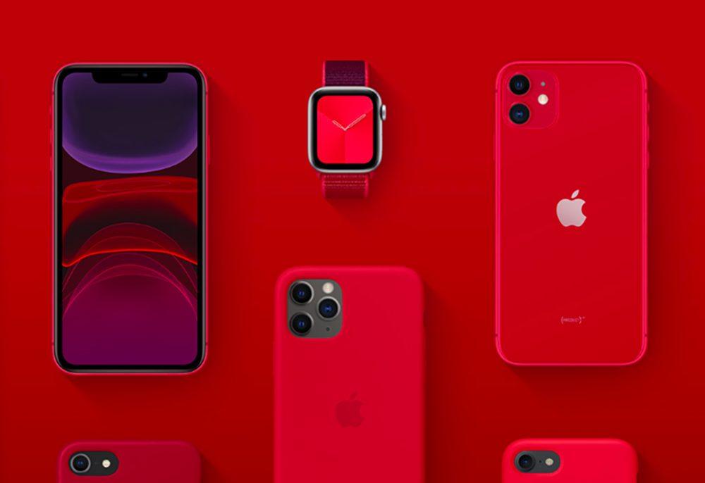 Apple Product Red Apple Watch iPhone 11 Lutte contre le sida : Apple a fait un don de 220 millions de dollars à (RED)