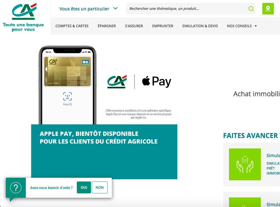 Credit Agricole Apple Pay La disponibilité dApple Pay au Crédit Agricole est enfin confirmée par la banque
