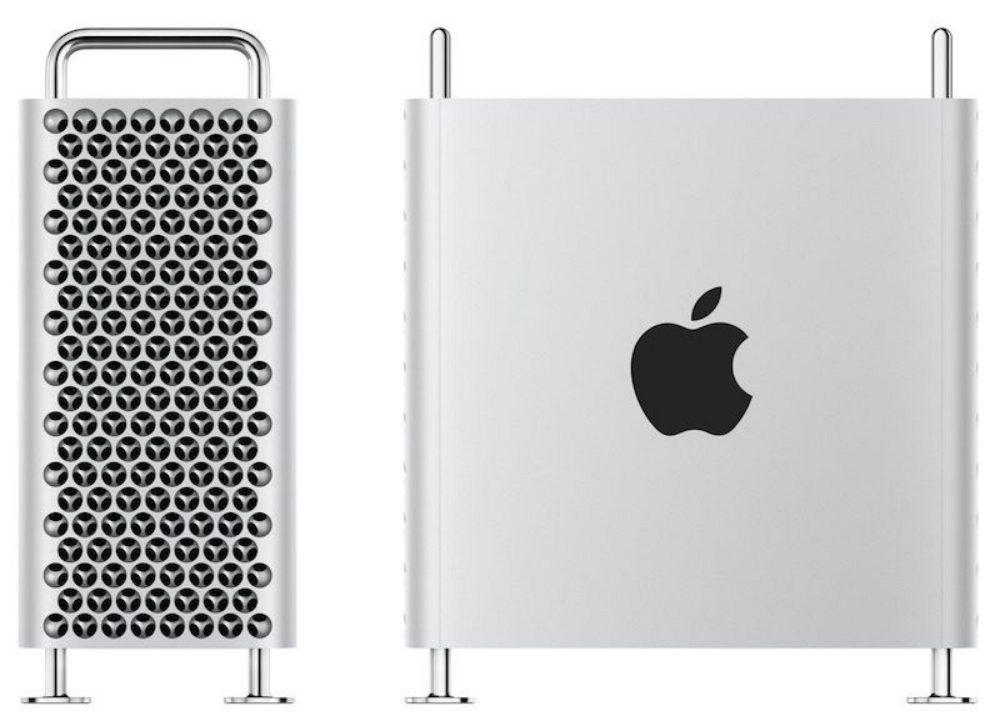 mac pro side and front Le Mac Pro (6 499 euros) et le Pro Display XDR (5 499 euros) sont disponibles