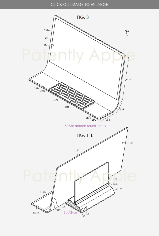 Brevet iMac Bloc de Verre 2 Brevet : Apple imagine un iMac en une seule plaque de verre incurvée