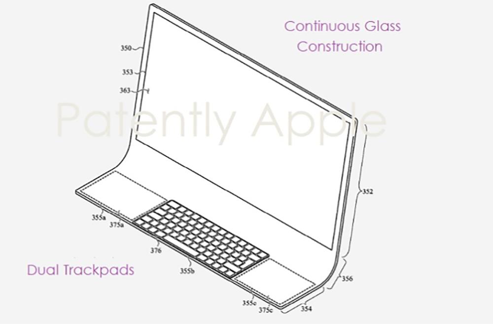 Brevet iMac Bloc de Verre Brevet : Apple imagine un iMac en une seule plaque de verre incurvée