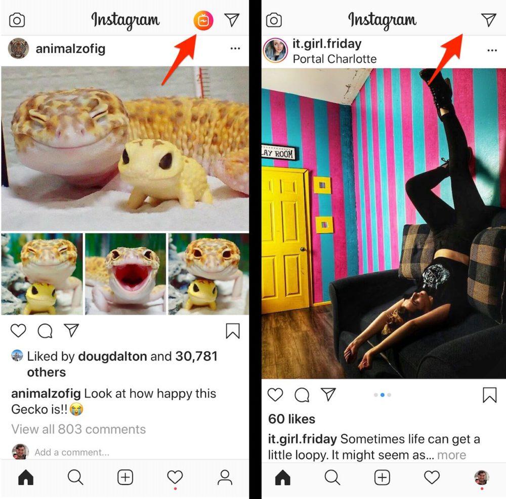 Instagram supprime IGTV Bouton Instagram tire un trait sur le bouton IGTV sur son application