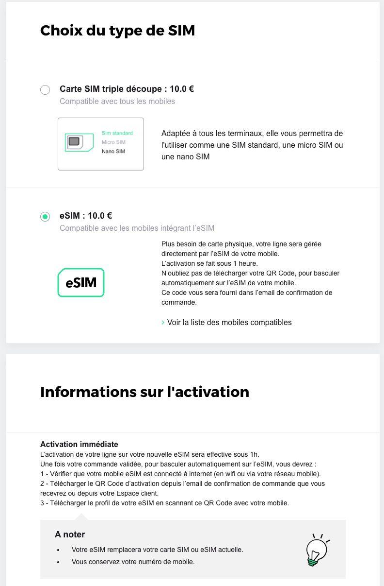 SFR eSIM LeSIM sur iPhone est désormais proposée par SFR pour la somme de 10 euros