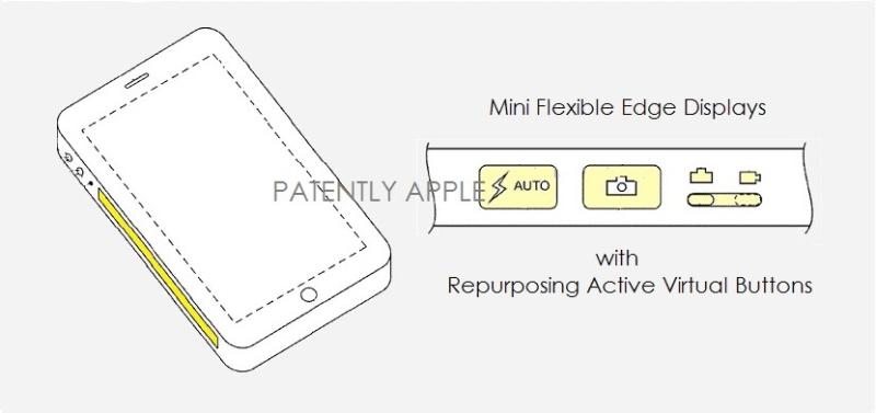 brevet iphone touch bar Apple a reçu un brevet pour un iPhone avec une Touch Bar sur le côté