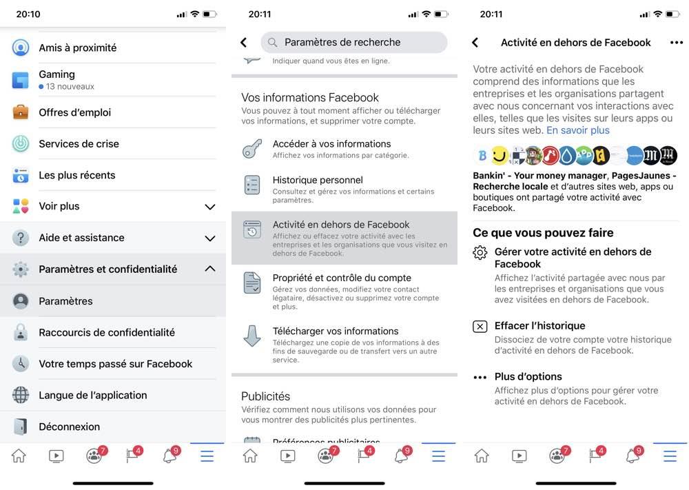 facebook gestion donnees privees Facebook vous laisse gérer vos données