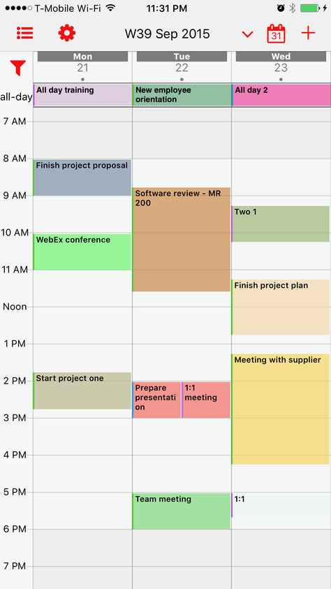 week calendar pro Bons plans App Store du 07/01/2020