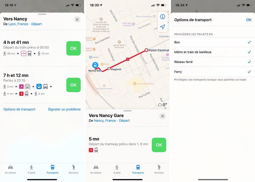 Plans Transports Commun Nouvelle Mise A Jour Plans en France : Apple ajoute les itinéraires en bus, métros, trains, voitures...