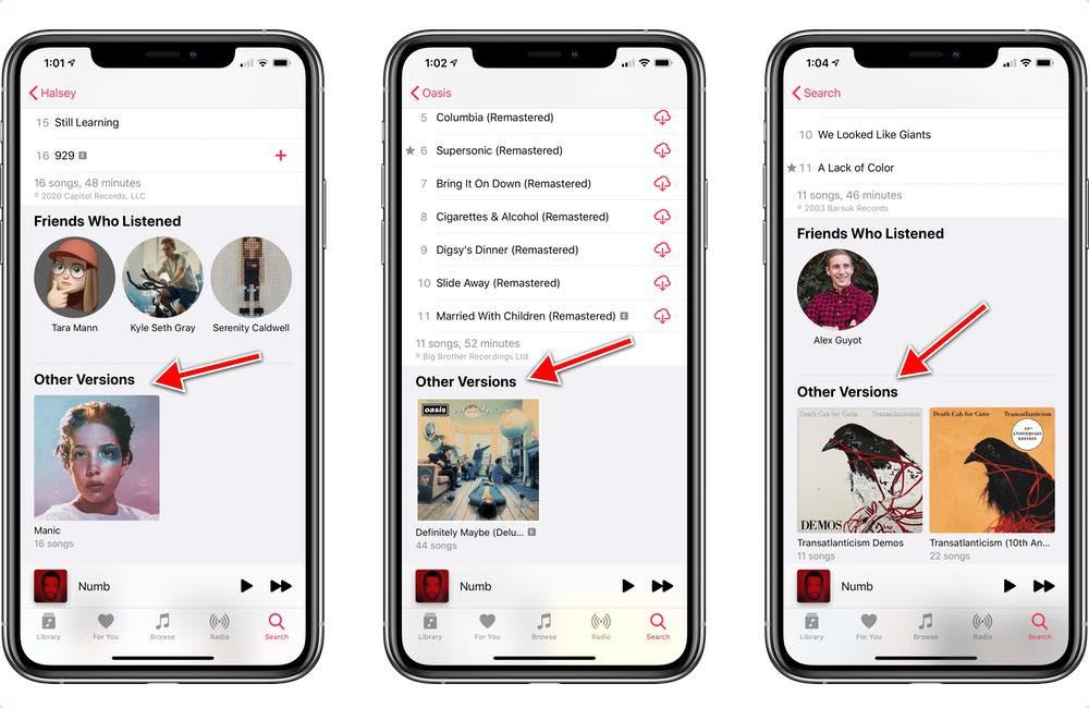 apple musique autres versions Apple Music : les différentes versions d'un album regroupé