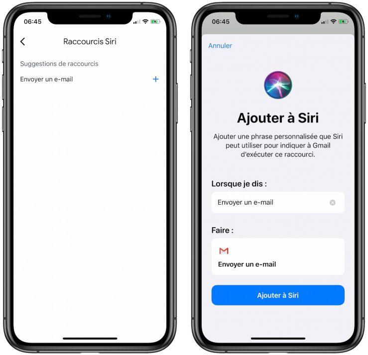gmail ios raccourcis siri Gmail sur iPhone : les raccourcis Siri sont désormais disponibles