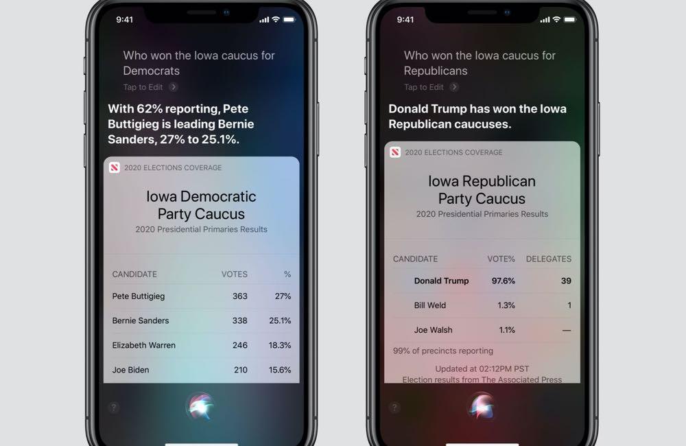 siri apple news election Élection présidentielle américaine 2020 : Apple News et Siri vont couvrir l'évènement