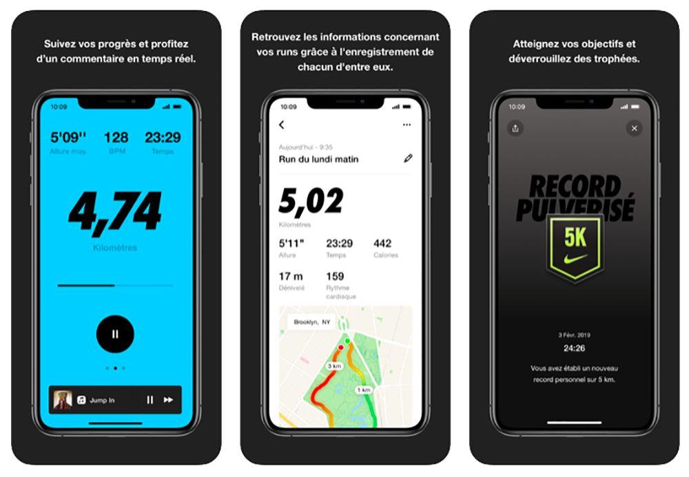 App Nike Run Club MàJ de Nike Run Club sur iPhone et Apple Watch : détails run améliorés, couleur du niveau du run, etc.
