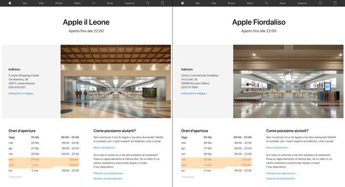 Coronavirus : Apple ferme, à titre provisoire, ses Apple Store en Italie