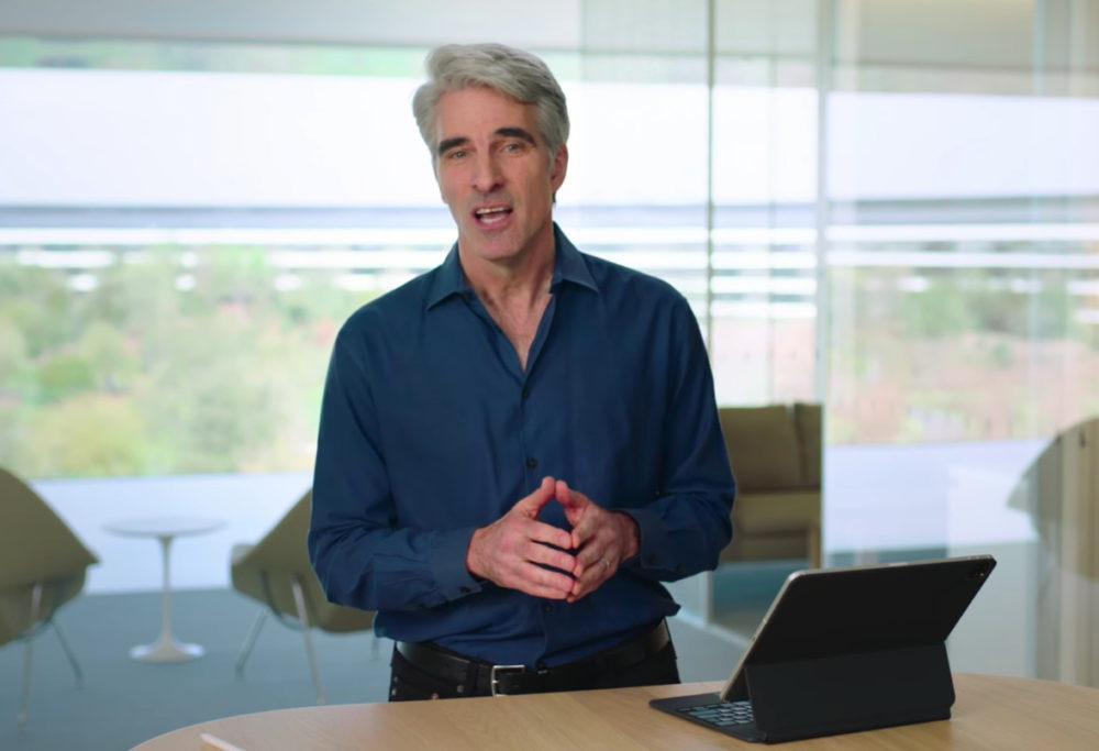 Craig Federighi Demo iPad Pro 2020 Craig Federighi nous fait une démonstration de liPad Pro 2020 et du Magic Keyboard