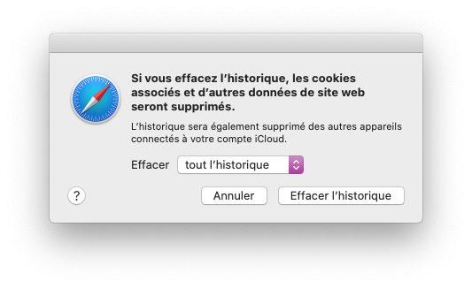 mac effacer historique choix Comment nettoyer et vider les caches, l'historique et les cookies sur Safari