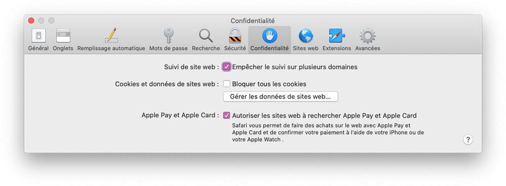 mac gestion cookies Comment nettoyer et vider les caches, l'historique et les cookies sur Safari