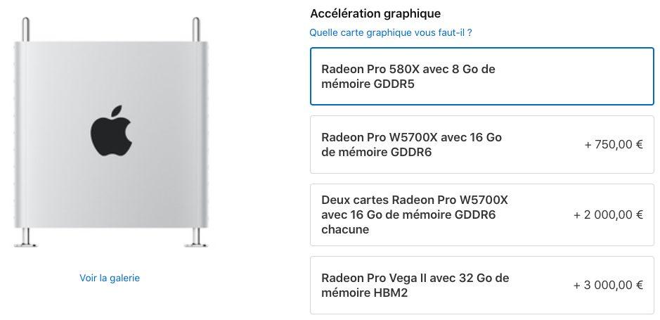 Mac Pro 2019 Module MPX avec Radeon Pro W5700X Apple Mac Pro : la carte graphique Radeon Pro W5700X est maintenant disponible