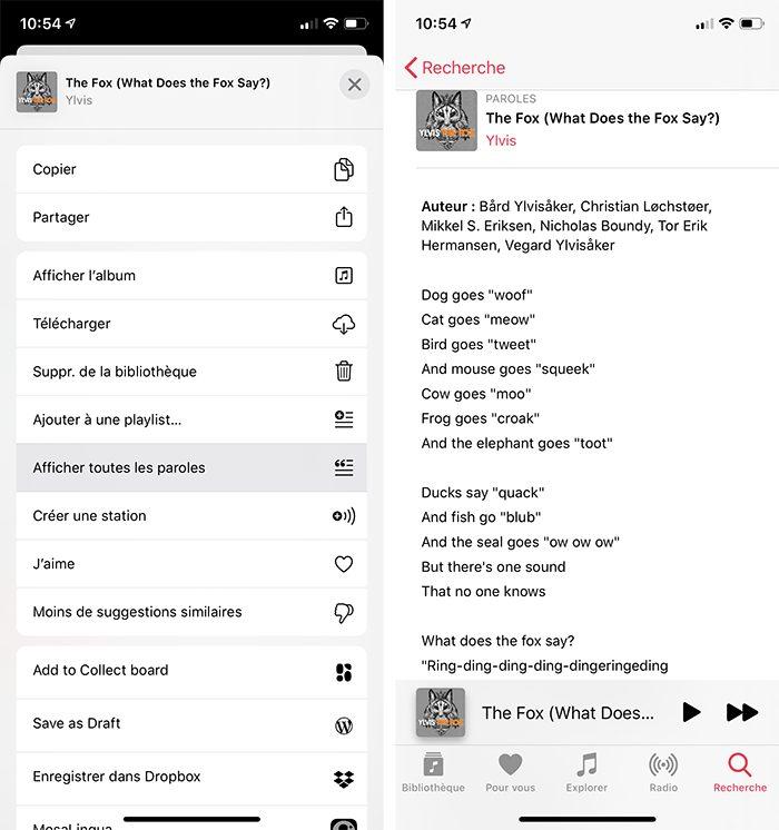 iphone musique paroles Astuce : faire un karaoké grâce aux paroles synchronisées de Musique sur Mac et iPhone