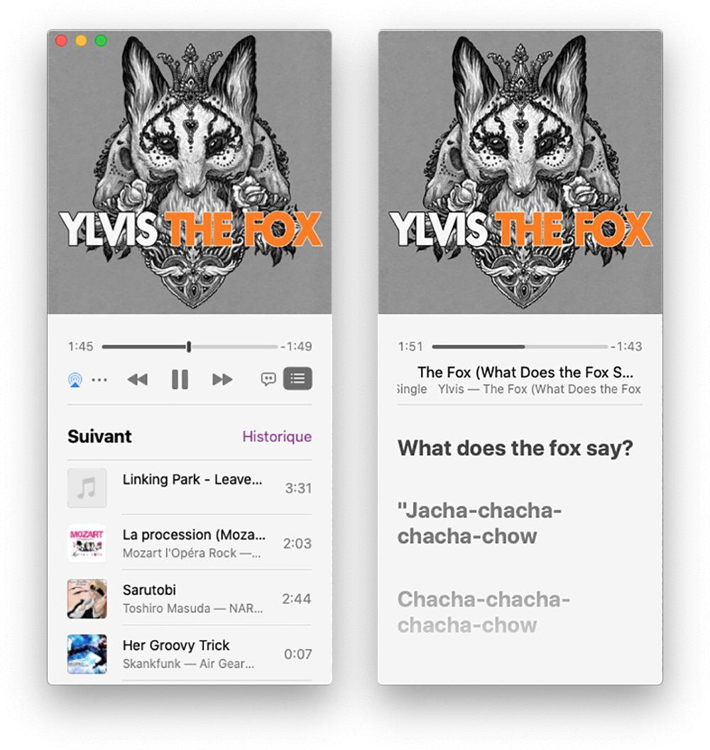 mac mini lecteur 2 Astuce : faire un karaoké grâce aux paroles synchronisées de Musique sur Mac et iPhone