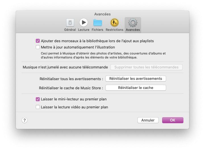 mac musique reglages avancees Astuce : faire un karaoké grâce aux paroles synchronisées de Musique sur Mac et iPhone