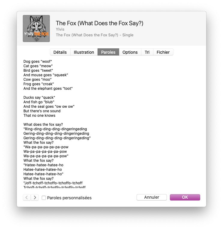 musique informations paroles Astuce : faire un karaoké grâce aux paroles synchronisées de Musique sur Mac et iPhone